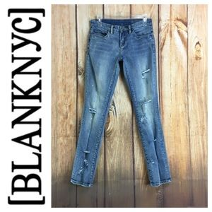 💸BLANKNYC designer distressed denim jean sz 25